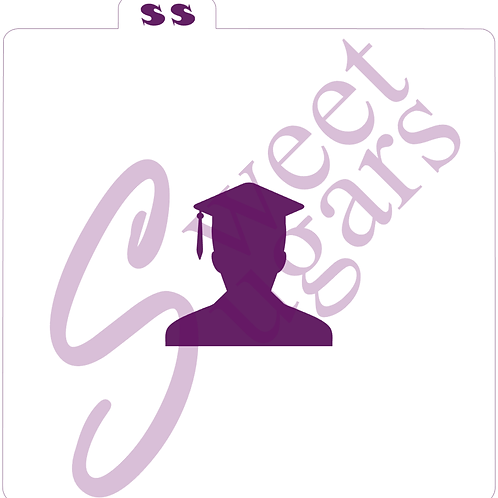 Male Graduate Silkscreen Stencil