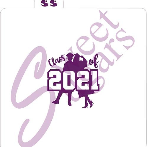 (WS) Class of 2021, Grads Silhouette Silkscreen Stencil