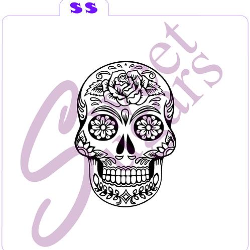 Sugar Skull Silkscreen Stencil