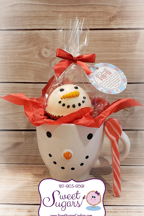 Snowman Mug & Cocoa Bomb Gift Set w/Peppermint Spoon *NO SHIPPING*