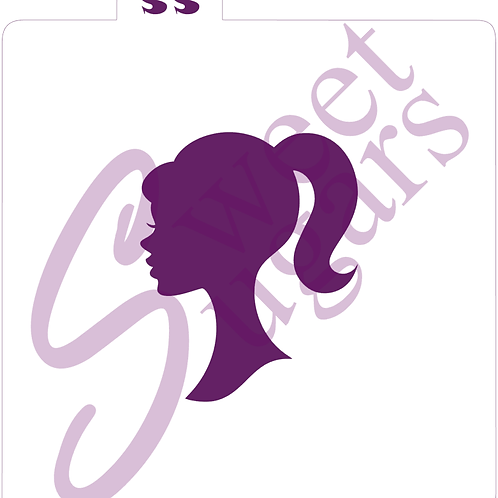 Barbie Silhouette Stencil - Traditional or Silkscreen