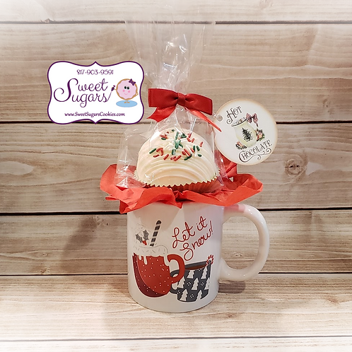 Let It Snow Mug with Hot Cocoa Bomb Gift Set *NO SHIPPING*
