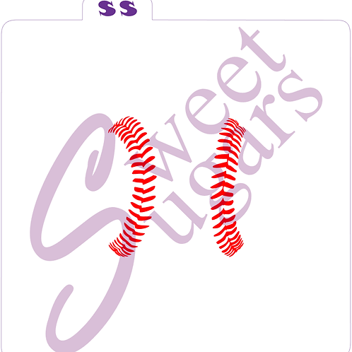 Baseball Seams Silkscreen Stencil - 3""