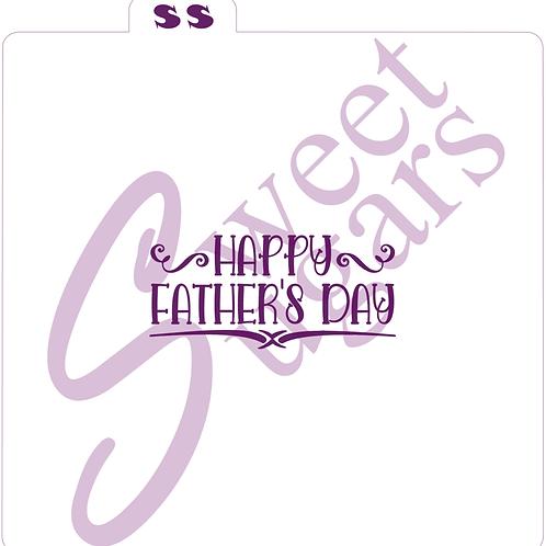 Happy Father's Day Silkscreen Stencil