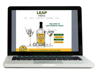 Leap Premium Vodka Website