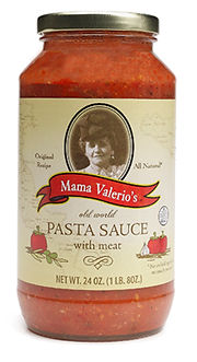 Mama Valerio's Meat Pasta Sauce Vanderbosch Graphic Design