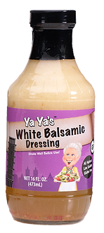YaYa's White Balsamic Dressing 16 Fluid Ounces