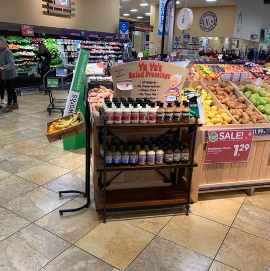 Display of Yaya's at grocery store