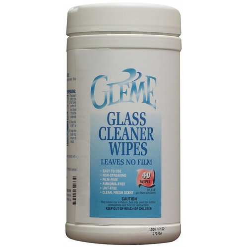 Claire - Gleme Glass Cleaner Wipes