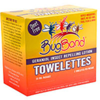 Bug Band Insect Repellent Towelettes with Geraniol