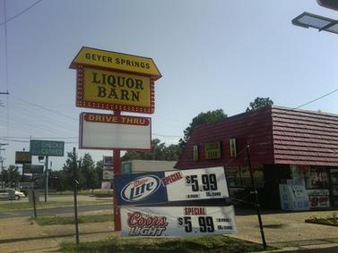 Liquor Barn Pole Sign