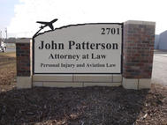 John Patterson Attorney Monument Sign
