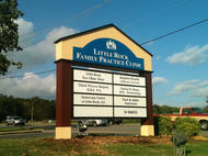 Little Rock Family Practice Monument Sign