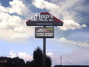 Reeds Metals Custom Sign
