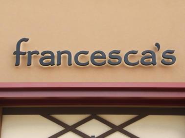 Francesca's Channel Letters