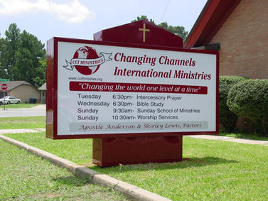 Changing Channels International Ministries Monument Sign