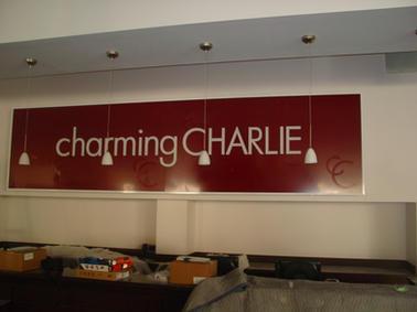 Charming Charlie Interior Wall Sign