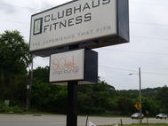 Clubhaus Fitness Pole Sign