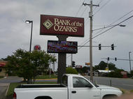 Bank of the Ozarks Pole Sign