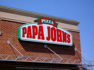 Papa John's Cabinet Sign