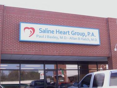 Saline Heart Group Cabinet Sign