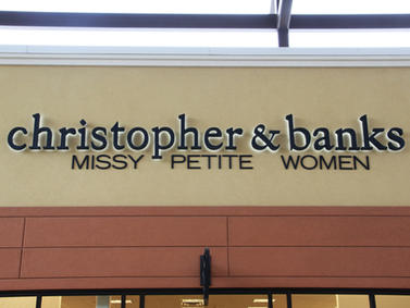 Christopher & Banks Channel Letters