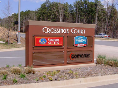 Crossings Court Monument Sign