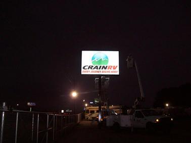 Crain RV Pole Sign
