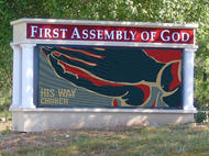 First Assembly of God Church LED Display