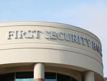 First Security Bank Channel Letters