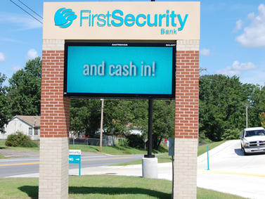First Security Bank LED Display