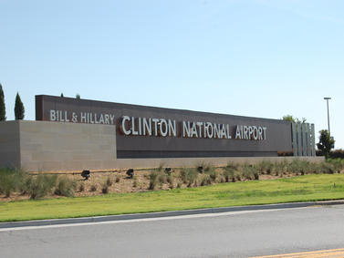 Clinton National Airport Monument Sign