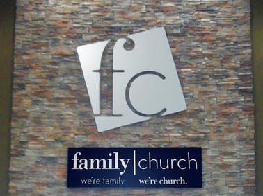Family Church Interior Sign