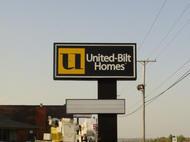 United Bilt Homes Pole Sign