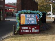 The Ridge Wine and Spirits LED Display