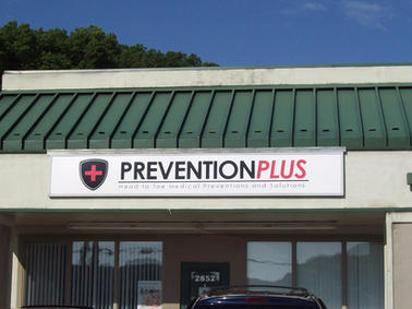 Prevention Plus Cabinet Sign