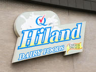 Hiland Dairy Cabinet Sign