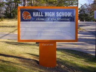 Hall High School Monument Sign