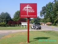 Cross Bridge Church Pole Sign