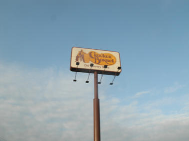Cracker Barrel Pole Sign