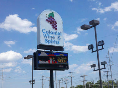 Colonial Wine & Spirits Pole Sign