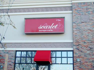 Scarlet Cabinet Sign