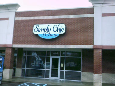 Simply Chic Salon Cabinet Sign