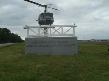Army Aviation Support Facility Monument Sign