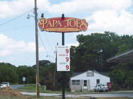 Papa Joe's Pole Sign