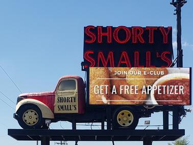 Shorty Smalls Custom Sign
