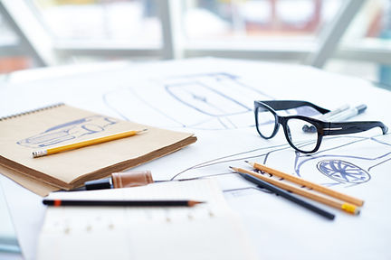 Instructional design with books and pencils