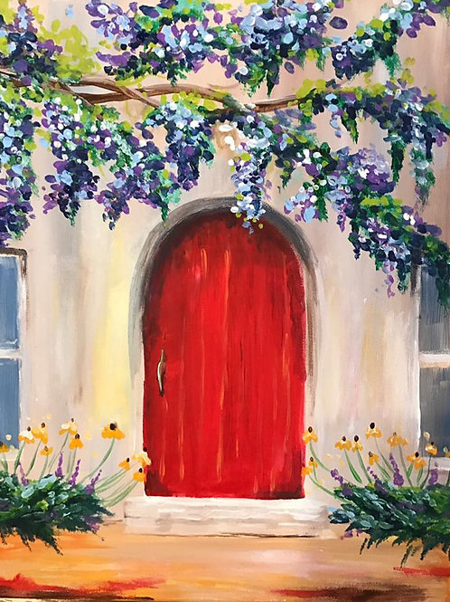 """The Red Door"" RECORDED VIRTUAL PAINT CLASS"