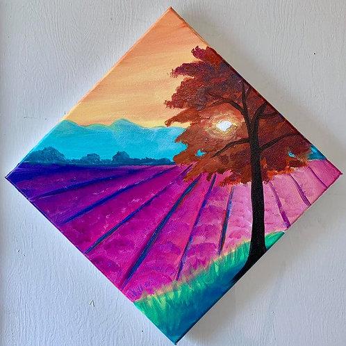 """Lavender Fields"" RECORDED VIRTUAL PAINT CLASS"