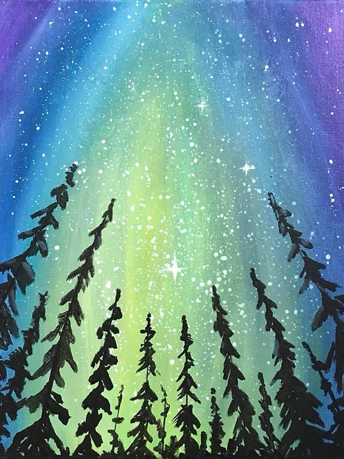 """Under the Night Sky"" LIVE INTERACTIVE PAINT PARTY Wed, Oct 7th 6-8:30pm"
